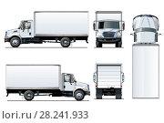 Купить «Truck template isolated on white», иллюстрация № 28241933 (c) Александр Володин / Фотобанк Лори