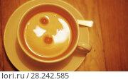 Купить «A cup of tea is served», видеоролик № 28242585, снято 8 января 2018 г. (c) Данил Руденко / Фотобанк Лори