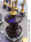 Купить «Input element of the power electrical transformer.», фото № 28245205, снято 9 декабря 2016 г. (c) Андрей Радченко / Фотобанк Лори