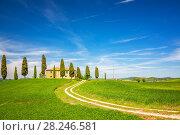 Купить «Tuscany spring landscape», фото № 28246581, снято 5 мая 2014 г. (c) Sergey Borisov / Фотобанк Лори