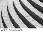 Architecture background, dark round stairs. Стоковое фото, фотограф EugeneSergeev / Фотобанк Лори