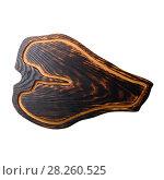 Wooden board on white background. Стоковое фото, фотограф Сергей Бочаров / Фотобанк Лори