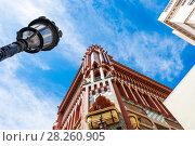 Купить «Casa Vicens is a house in Barcelona, designed by Antoni Gaudí», фото № 28260905, снято 31 марта 2018 г. (c) Ольга Визави / Фотобанк Лори