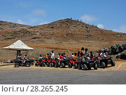 Купить «West Indies, Bonaire, West Indies, Aruba , Adventure Tour with Quads, ATV,», фото № 28265245, снято 17 февраля 2020 г. (c) age Fotostock / Фотобанк Лори