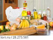Купить «Provision with vegetables and meat», фото № 28273581, снято 20 апреля 2018 г. (c) Яков Филимонов / Фотобанк Лори