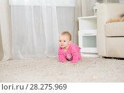 Купить «Baby eight months in the room», фото № 28275969, снято 6 февраля 2018 г. (c) Типляшина Евгения / Фотобанк Лори