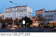 Купить «View of streets of Cannes in France», фото № 28277293, снято 3 декабря 2017 г. (c) Яков Филимонов / Фотобанк Лори
