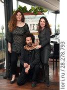 Купить «Annemarie Jacir, Saleh Bakri, Claudia Bedogni during 'Wajib' film photocall, Rome, Italy 09 apr 2018.», фото № 28278793, снято 9 апреля 2018 г. (c) age Fotostock / Фотобанк Лори