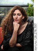 Купить «Annemarie Jacir during 'Wajib' film photocall, Rome, Italy 09 apr 2018.», фото № 28278797, снято 9 апреля 2018 г. (c) age Fotostock / Фотобанк Лори