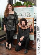 Купить «Annemarie Jacir, Saleh Bakri during 'Wajib' film photocall, Rome, Italy 09 apr 2018.», фото № 28278801, снято 9 апреля 2018 г. (c) age Fotostock / Фотобанк Лори