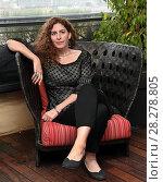 Купить «Annemarie Jacir during 'Wajib' film photocall, Rome, Italy 09 apr 2018.», фото № 28278805, снято 9 апреля 2018 г. (c) age Fotostock / Фотобанк Лори