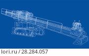 Купить «Horizontal directional drilling machine vector», иллюстрация № 28284057 (c) Кирилл Черезов / Фотобанк Лори