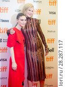 Купить «Actors attends a premiere for 'Lion' for the annual Toronto Film Festival (TIFF), in Toronto, Canada. Featuring: Rooney Mara, Nicole Kidman Where: Toronto...», фото № 28287117, снято 10 сентября 2016 г. (c) age Fotostock / Фотобанк Лори