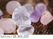 Купить «Native stones various quartz», фото № 28303293, снято 30 марта 2018 г. (c) Федонников Никита Александрович / Фотобанк Лори