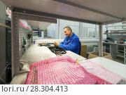 Купить «Electric solder wires to the electrical connector.», фото № 28304413, снято 19 октября 2017 г. (c) Андрей Радченко / Фотобанк Лори