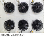 Купить «Powerful industrial fan. Climatic and ventilation technology.», фото № 28304521, снято 2 марта 2017 г. (c) Андрей Радченко / Фотобанк Лори