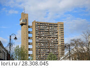 Купить «Trellick Tower, Apartments, Brutalist Architecture, architect Erno Goldfinger, Notting Hill, London, England, United Kingdom, Europe», фото № 28308045, снято 1 апреля 2017 г. (c) age Fotostock / Фотобанк Лори
