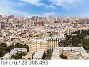 Купить «Панорамный вид на Баку. Вид с высоты птичьего полета. Азербайджан», фото № 28308493, снято 17 апреля 2018 г. (c) Евгений Ткачёв / Фотобанк Лори