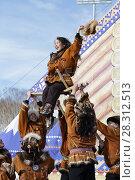 """Купить «Корякский ансамбль танца """"Мэнго""""», фото № 28312513, снято 1 марта 2018 г. (c) А. А. Пирагис / Фотобанк Лори"""
