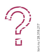 Купить «stencil question mark», фото № 28318217, снято 19 августа 2019 г. (c) Wavebreak Media / Фотобанк Лори