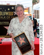Купить «Kathy Bates Honored With Star On The Hollywood Walk Of Fame Featuring: Kathy Bates Where: Hollywood, California, United States When: 20 Sep 2016 Credit: FayesVision/WENN.com», фото № 28334053, снято 20 сентября 2016 г. (c) age Fotostock / Фотобанк Лори