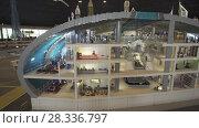 Купить «Exhibition of mock-ups Airport of Dubai made of Lego pieces in Miniland Legoland at Dubai Parks and Resorts stock footage video», видеоролик № 28336797, снято 1 апреля 2018 г. (c) Юлия Машкова / Фотобанк Лори