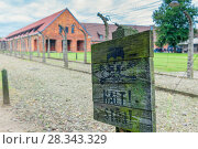The death camp of Auschwitz (Auschwitz) 1940-1945. About 1.4 million people, of whom about 1.1 million were Jews, were murdered in Auschwitz. After the war Auschwitz, the death camp, was included in the UNESCO World Heritage List and became a museum center. (2017 год). Стоковое фото, фотограф Константин Лабунский / Фотобанк Лори