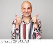 Купить «emotions of bald man», фото № 28343721, снято 24 марта 2018 г. (c) Александр Лычагин / Фотобанк Лори