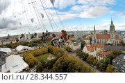Купить «Вид на Мюнхен с высоты карусели», фото № 28344557, снято 20 марта 2019 г. (c) Irina Opachevsky / Фотобанк Лори