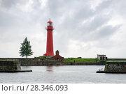 Передний Кронштадтский створный (бывший Верхний Николаевский) маяк на острове Кроншлот, Россия (2017 год). Стоковое фото, фотограф Pukhov K / Фотобанк Лори