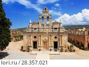Купить «Православный монастырь Аркади на Крите, Греция», фото № 28357021, снято 4 июня 2017 г. (c) Наталья Волкова / Фотобанк Лори