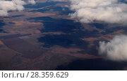Купить «Aerial view from descending Airplane», видеоролик № 28359629, снято 20 апреля 2018 г. (c) Игорь Жоров / Фотобанк Лори