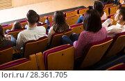Купить «Numerous audience expecting movie to begin», фото № 28361705, снято 3 декабря 2016 г. (c) Яков Филимонов / Фотобанк Лори