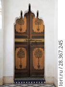 Купить «Ornate Door, Bahia Palace, UNESCO World Heritage Site, Marrakesh (Marrakech), Morocco, North Africa, Africa», фото № 28367245, снято 28 марта 2017 г. (c) age Fotostock / Фотобанк Лори