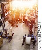 Купить «Large modern blurred warehouse industrial and logistics companies. Warehousing on the floor and called the high shelves», фото № 28370249, снято 23 января 2018 г. (c) Алла Сизинцева / Фотобанк Лори