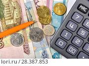 Купить «Калькулятор, банковская карта и деньги. Бизнес-натюрморт», эксклюзивное фото № 28387853, снято 7 мая 2018 г. (c) Юрий Морозов / Фотобанк Лори