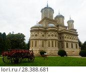 Купить «Cathedral in romanian city», фото № 28388681, снято 22 сентября 2017 г. (c) Яков Филимонов / Фотобанк Лори