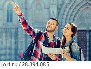 Купить «couple looking at the map», фото № 28394085, снято 23 января 2020 г. (c) Яков Филимонов / Фотобанк Лори