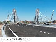 Купить «Пилоны моста Бетанкура. Санкт-Петербург», эксклюзивное фото № 28402053, снято 12 мая 2018 г. (c) Александр Щепин / Фотобанк Лори