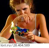 Купить «Wedding memories. Broken heart woman. Family break up.», фото № 28404589, снято 16 октября 2018 г. (c) Gennadiy Poznyakov / Фотобанк Лори
