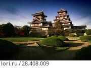Купить «Fushimi or Fushimi-Momoyama castle historic buildings. Japanese castle in Fushimi ward, Kyoto, Japan.», фото № 28408009, снято 21 ноября 2017 г. (c) age Fotostock / Фотобанк Лори