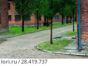 The death camp of Auschwitz (Auschwitz) 1940-1945. About 1.4 million people, of whom about 1.1 million were Jews, were murdered in Auschwitz. After the war Auschwitz, the death camp, was included in the UNESCO World Heritage List and became a museum center. (2017 год). Редакционное фото, фотограф Константин Лабунский / Фотобанк Лори