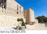 Купить «Maiden's Tower. Fortress of the Old Sity Baku. Historical core of Azerbaijan Baku.», фото № 28421373, снято 23 сентября 2015 г. (c) Евгений Ткачёв / Фотобанк Лори