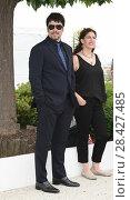 Купить «Benicio Del Toro, Annemarie Jacir during 'Jury Un Certain Regard' photocall at 71th Cannes Film Festival, Cannes, France 09/05/2018.», фото № 28427485, снято 9 мая 2018 г. (c) age Fotostock / Фотобанк Лори