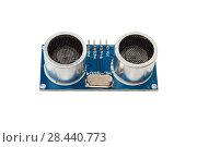 Купить «Ultrasonic Sensor Module,Electronic Equipment», фото № 28440773, снято 4 февраля 2018 г. (c) Виталий Поздеев / Фотобанк Лори