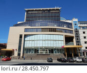 Купить «Двенадцатиэтажное монолитное торгово-административное здание, построено в 2006 году. Бизнес-центр «Тропикано». Улица Красная Пресня, 24. Пресненский район. Москва», эксклюзивное фото № 28450797, снято 9 мая 2018 г. (c) lana1501 / Фотобанк Лори