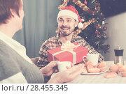 Купить «Mother and son Christmas gifts», фото № 28455345, снято 19 марта 2019 г. (c) Яков Филимонов / Фотобанк Лори