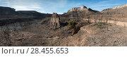 Купить «Canyon de Valbacol after forest fire, Etang de Berre, Provence, France. October 2016.», фото № 28455653, снято 16 июля 2018 г. (c) Nature Picture Library / Фотобанк Лори