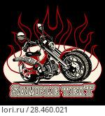 Купить «Vector Cartoon Motorbike», иллюстрация № 28460021 (c) Александр Володин / Фотобанк Лори