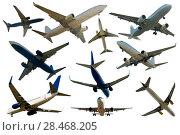 Купить «Collection of aircrafts isolated», фото № 28468205, снято 25 октября 2017 г. (c) Яков Филимонов / Фотобанк Лори